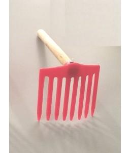 Χτένι πλαστικό με ξύλινο χερούλι