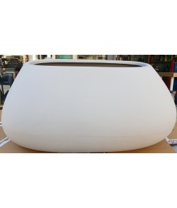 Γλάστρα - ζαρντινιέρα πλαστική Gaudi rotational χρώματος Cipria 85x37 ύψος