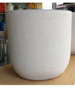 Γλάστρα πλαστική Shabby cori corda 35cm διάμετρος rotational