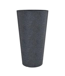 Γλάστρα πλαστική Coneo High rotational με βαλβίδα αποστράγγισης 30x55cm