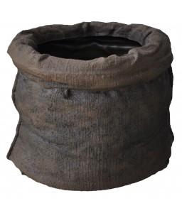 Γλάστρα πλαστική Sacco rotational με όψη τσουβαλιού