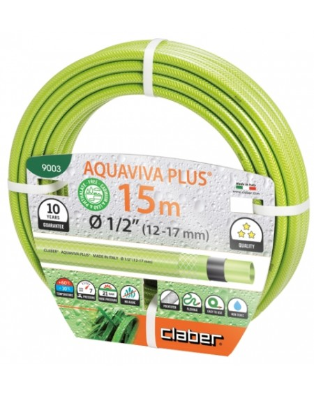 "Λάστιχο Aquaviva plus 1/2"" Claber"